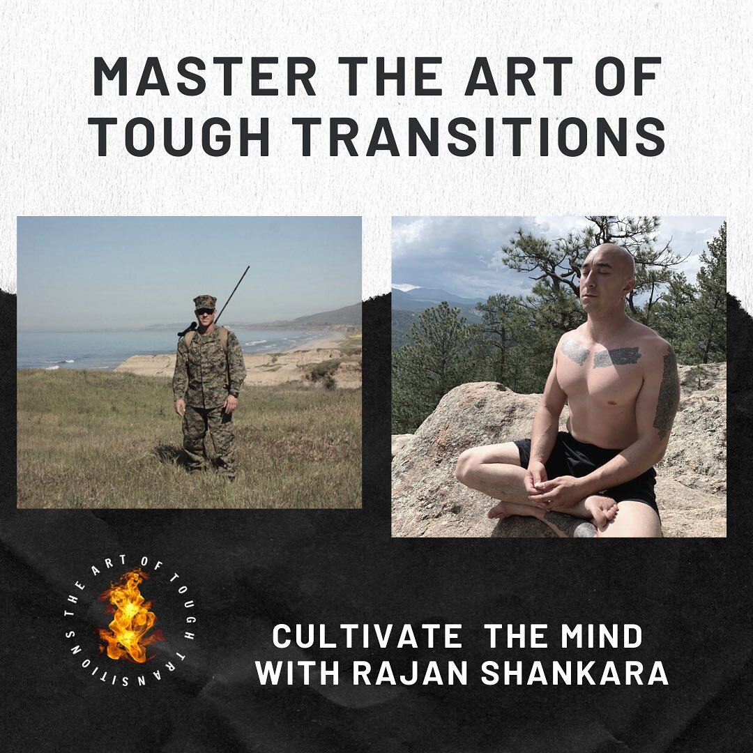 What does a Marine and former monk @coach_rajanshankara have in common? . Tonight I'm hosting my first ever guest inside The Art Of Tough Transitions Tribe at 8pm EST where we will be going deep on tough transitions and mastering the mind. . This is my first ever live call with a guest , and I want to invite you to join. . Drop a comment below and I'll reach out to you with the link 🔥 #dodopeshit #fucktherules #wednesdayvibes #mindfulness