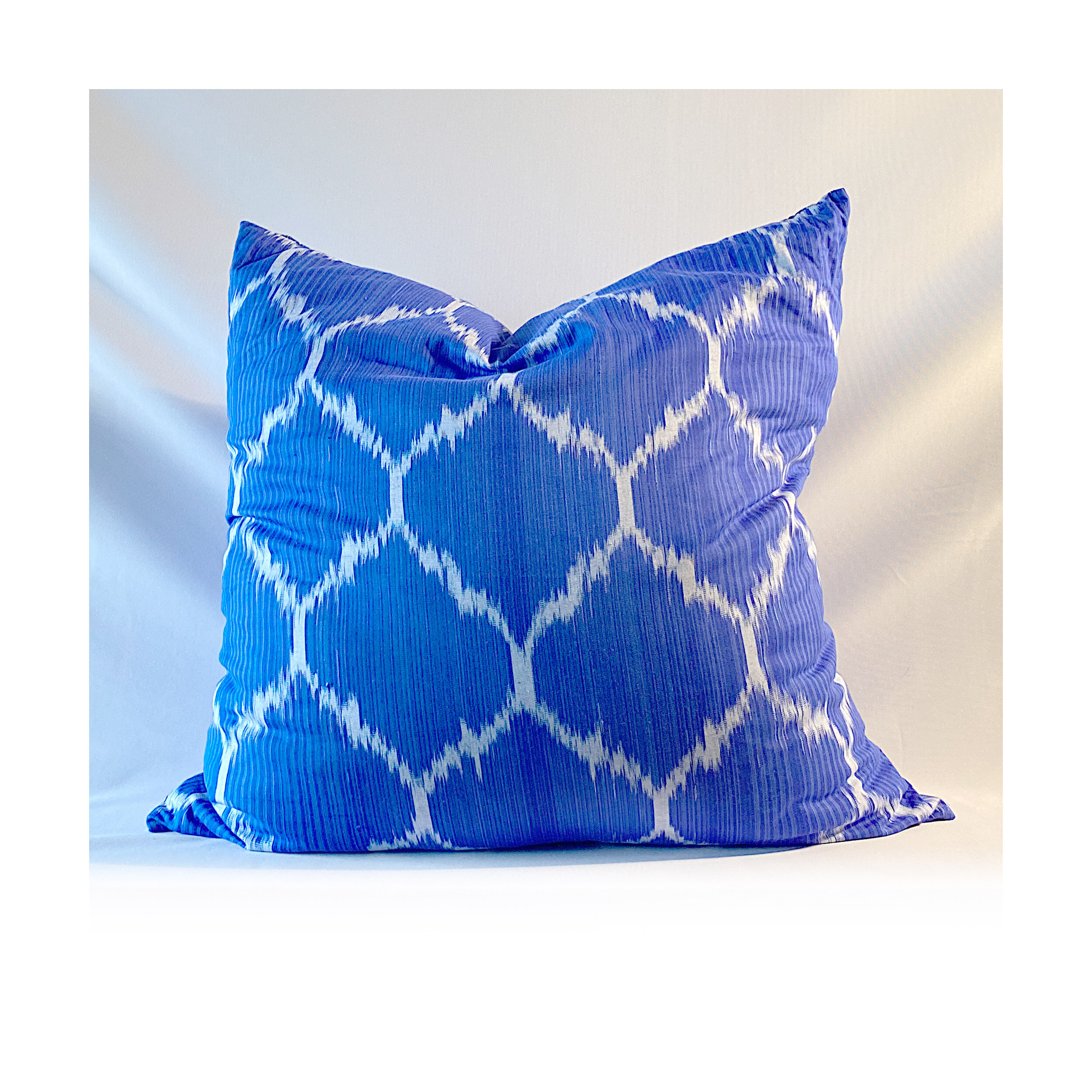 The Hinto Cotton Ikat Pillow Unexpected Designs