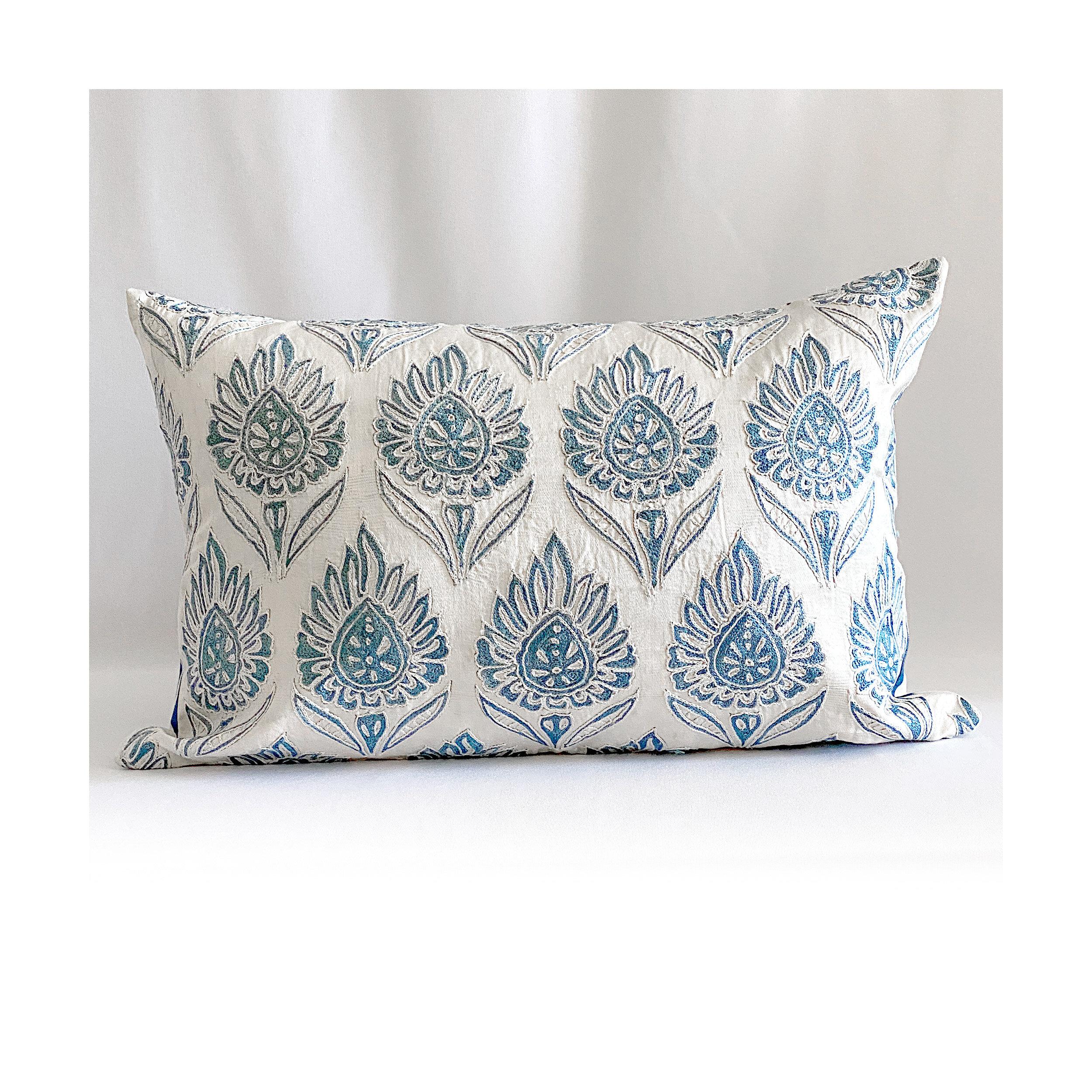 The Odeta Silk Suzani Pillow Unexpected Designs