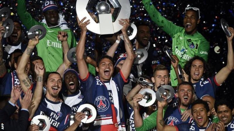 PSG celebrate winning Ligue 1 in 2014 | Photo Credit