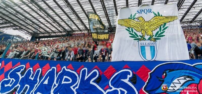 Wisła Sharks at the Stadio Olimpico for a Lazio game |    Photo Credit