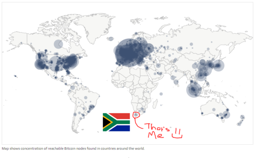 Bitnodes 3 - Map of global distribution of Nodes, taken from bitnodes.io.PNG