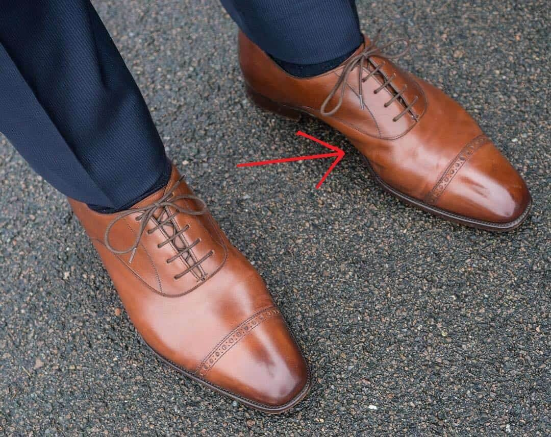 leather shoes creasing