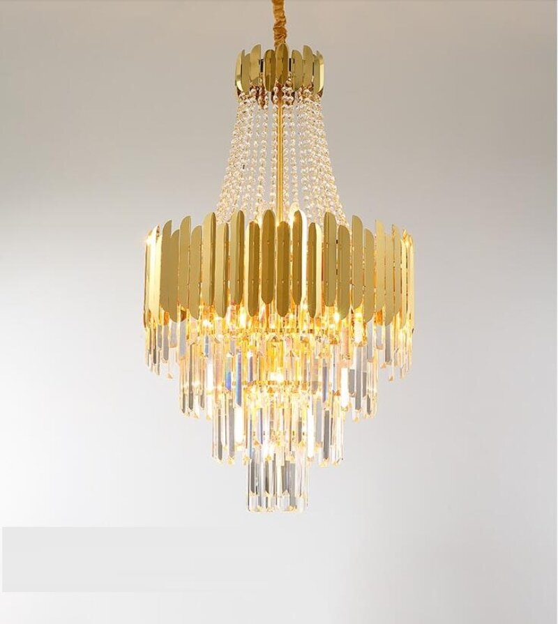 Luxury Crystal And Gold Chandelier