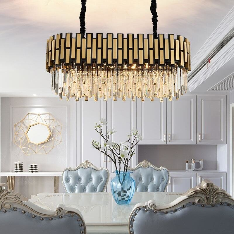 Oval Art Deco Chandelier Eleglam