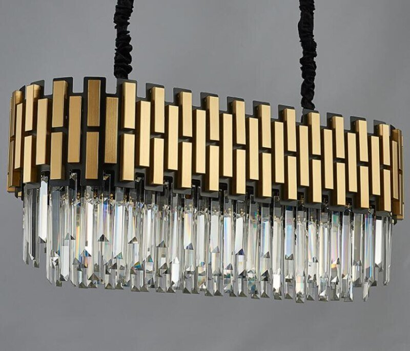 Oval Art Deco Chandelier Eleglam