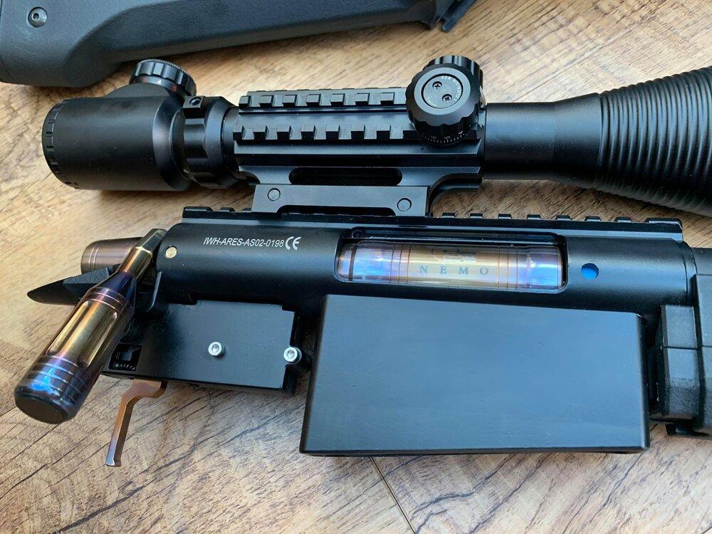 Jaeger lavorato di precisione INOX Trigger Box Set a vite PER ARES STRIKER-AL