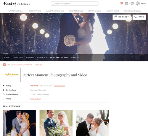 Submitting real wedding stories is a very effective strategy to get links and gain exposure. The qualified traffic that comes from that is five times more likely to end with a booking.