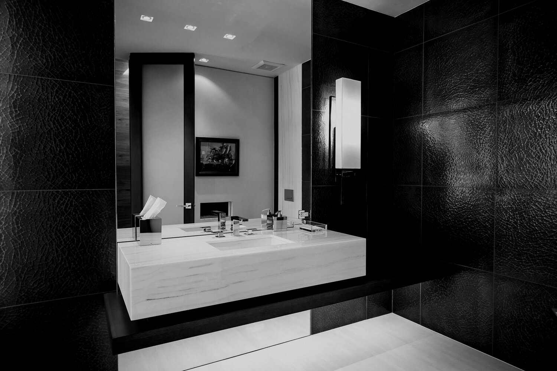 modern powder room