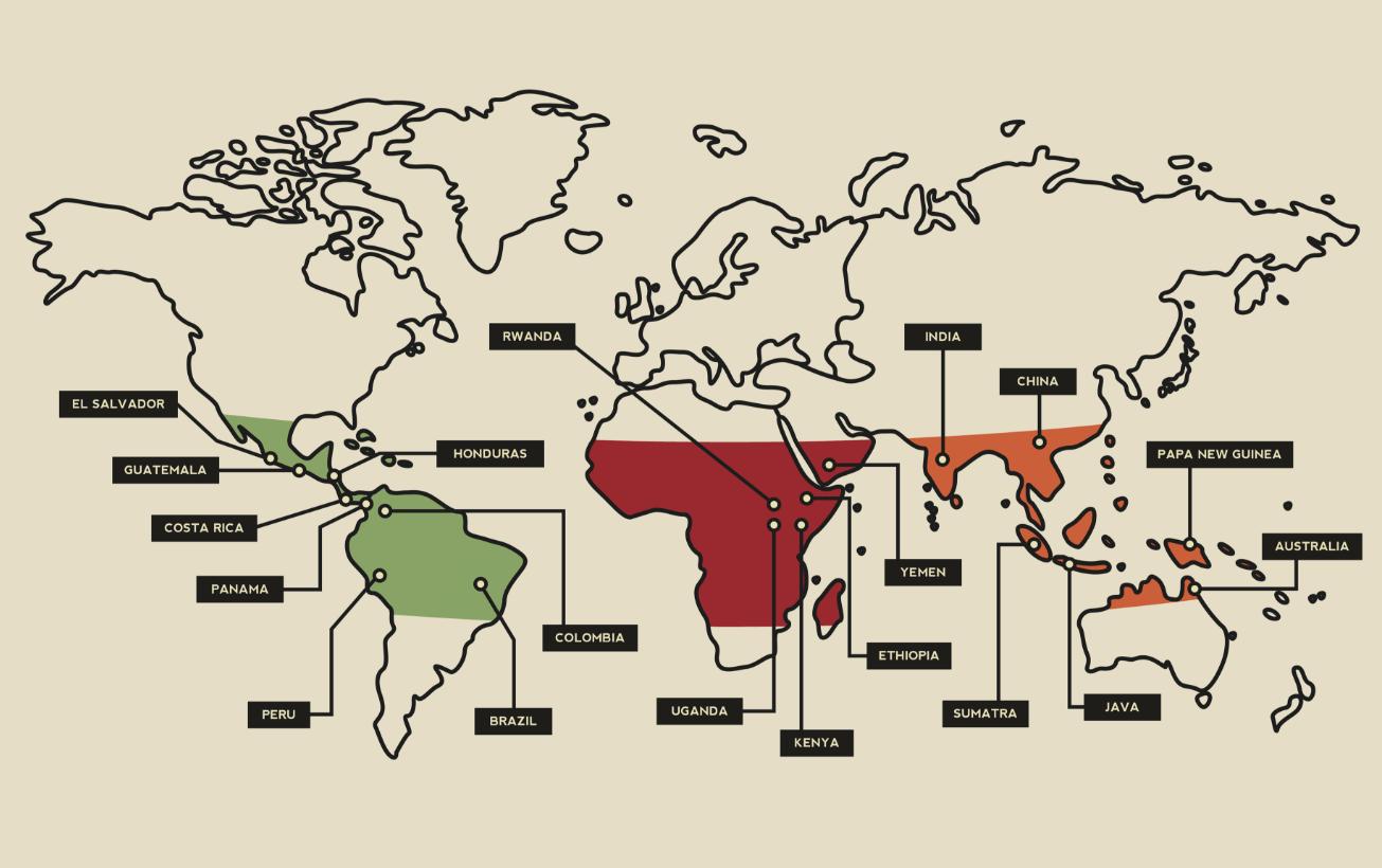 coffee belt map