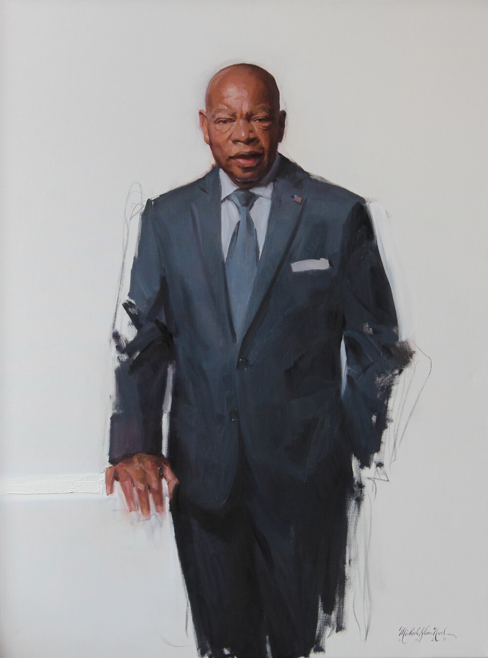 Portrait painting of Congressman John Lewis — Michael Shane Neal