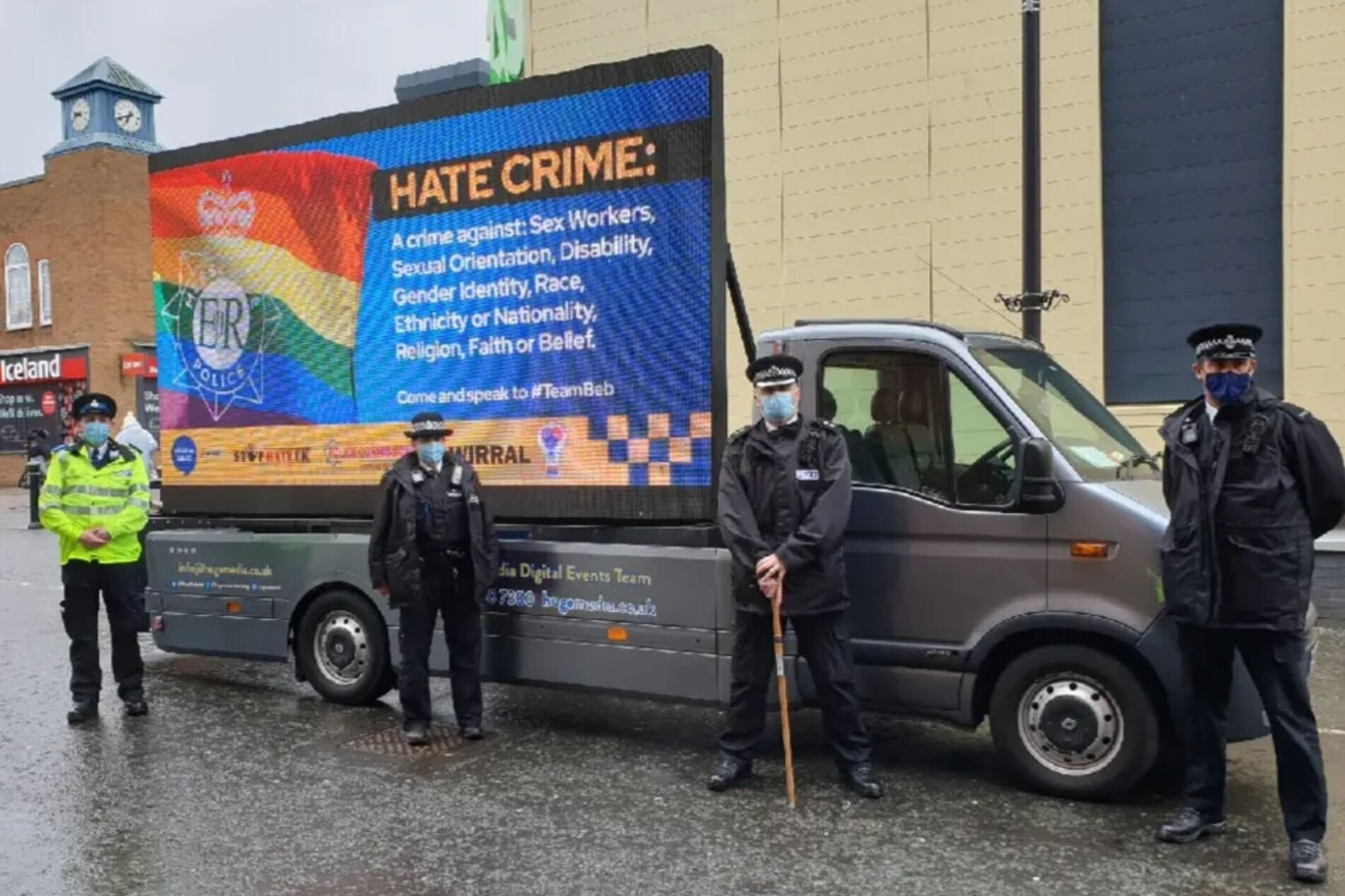 Merseyside Police hire van to encourage people to report hate crime