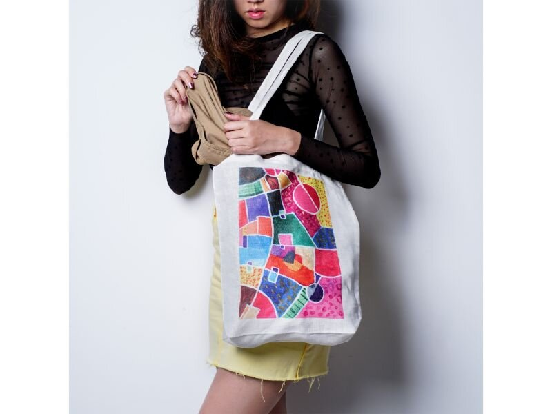 Twopluso's Colours of Life Tote Bag
