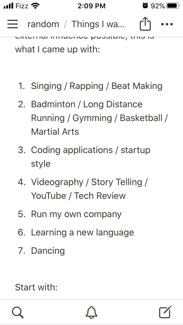 Modified list
