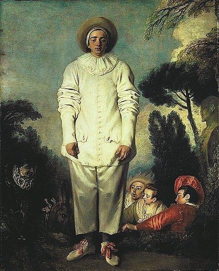 Pierrot, Called Gilles By Jean Antoine Watteau