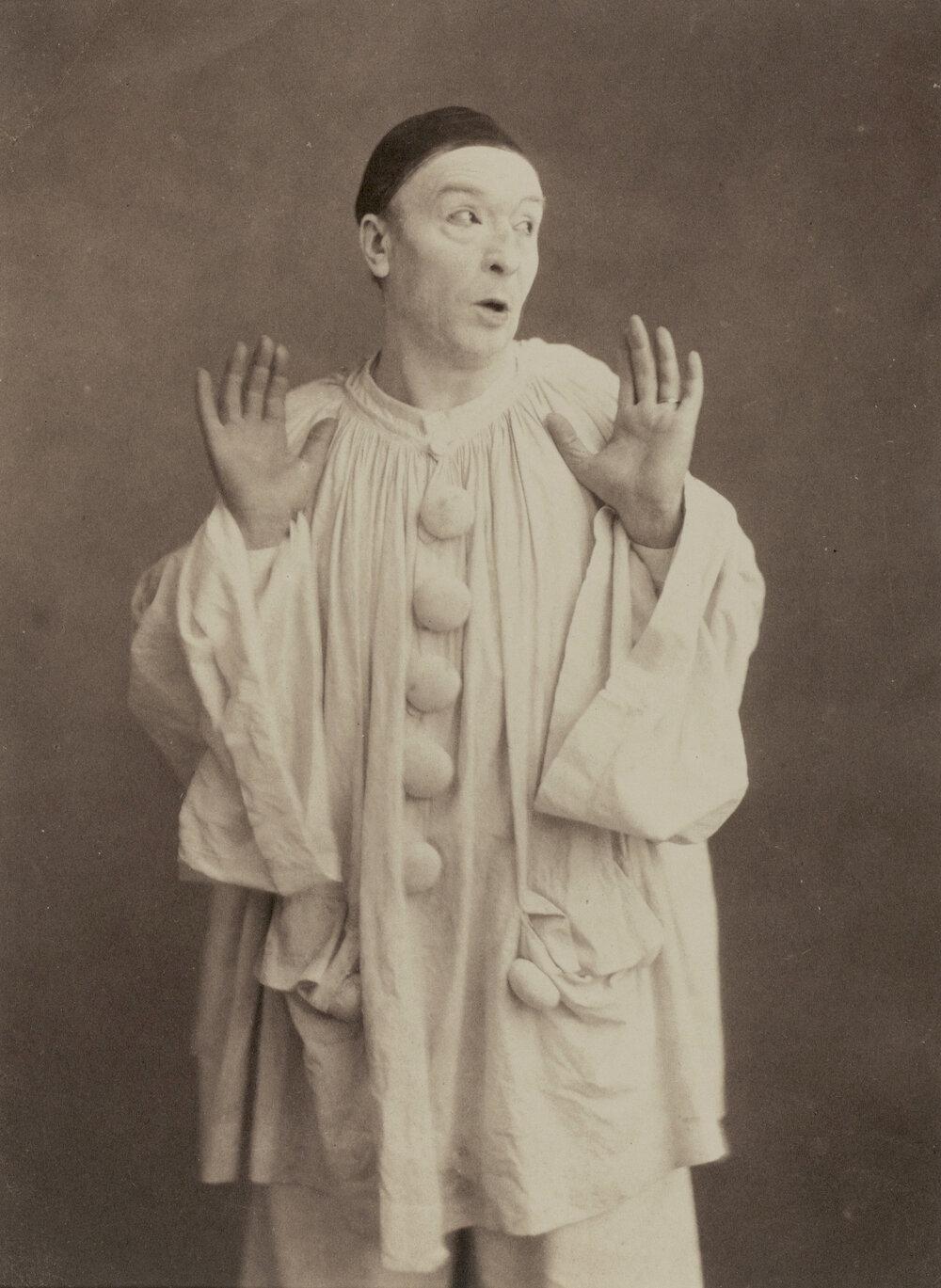 Paul Legrand as Pierrot circa 1855.