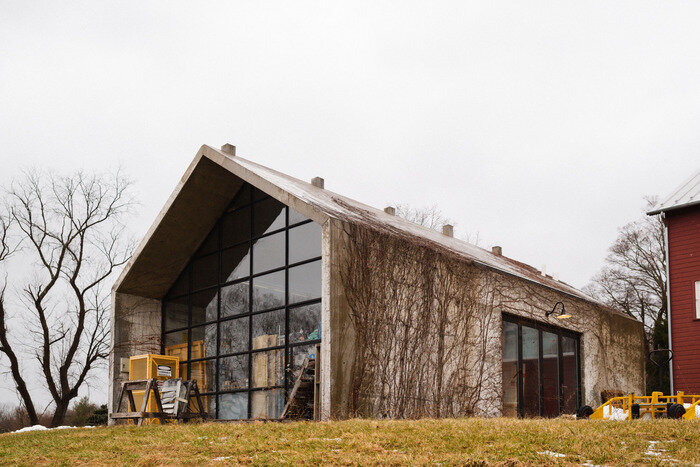Colen's art studio at Sky High Farm. Photo: Ryan Lowry