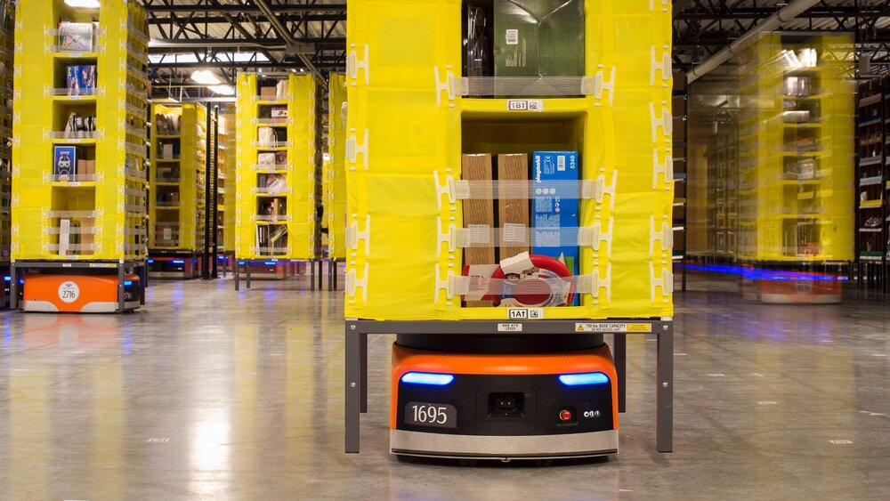Amazon robot in autonomous fulfillment center