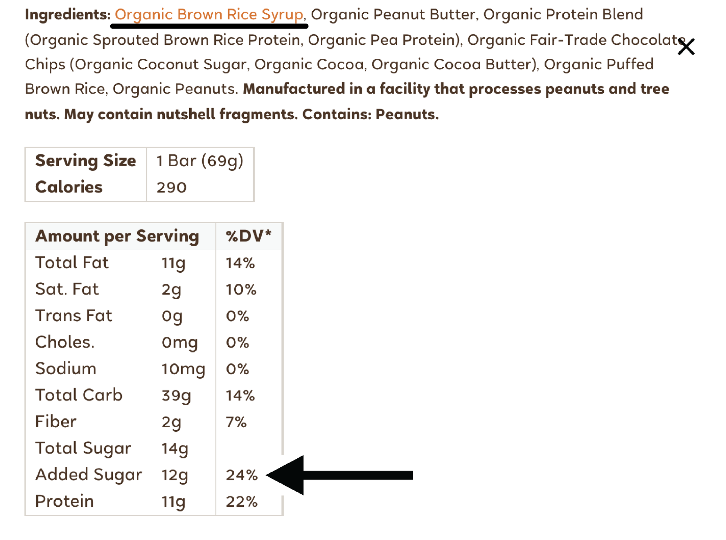 Not every nutrition label will tell you how many grams of added sugar are inside (here, 12gm is equivalent to 1 tbsp or 3 tsp). However, nutrition labeling requirements are now requiring brands to do this. It just takes some time for everyone to make their labeling adjustments! When it comes to sugars that are naturally found in whole foods like fruit, vegetables, and beans – don't worry so much about that. It's the added sugars we want to be cautious about here.     So what happens when you remove added sugars from your diet.   We know that sugar is an addiction, so you can expect symptoms like headache, sugar cravings, and irritability in the week or so after removing added sugar. It is normal for certain times of day (afternoon slump, anyone?!) to be more difficult when it comes to cravings, but the key is to push through. After a week or so,  those cravings should get better .  As a dietitian, I recommend making your meals and snacks as balanced as possible to help fight feelings of hunger and fatigue, which will make you crave more sugar. Include protein, healthy fats and fiber into meals as these three nutrients keep us feeling satisfied and keep our blood sugar balanced (which is great for inflammation, weight, energy and overall mood). In my opinion, it is totally fine to include carbohydrates like sweet potatoes and fruit but blood sugar will be more balanced by making the non-starchy veggies (ie spinach, broccoli, roasted carrots, arugula) the star of the plate and incorporating a protein as well, whether that's eggs, fish, chicken or tofu. Carbs can be part of the plate, but for health, we generally want to make them more of a side kick.  If you're used to adding honey or sugar to your coffee or tea in the am, you may be tempted to swap to artificial sweeteners during this time. I say - try to skip that. The research seems to show that these artificial sweeteners may actually make us crave more sweet and can negatively impact our gut health too.