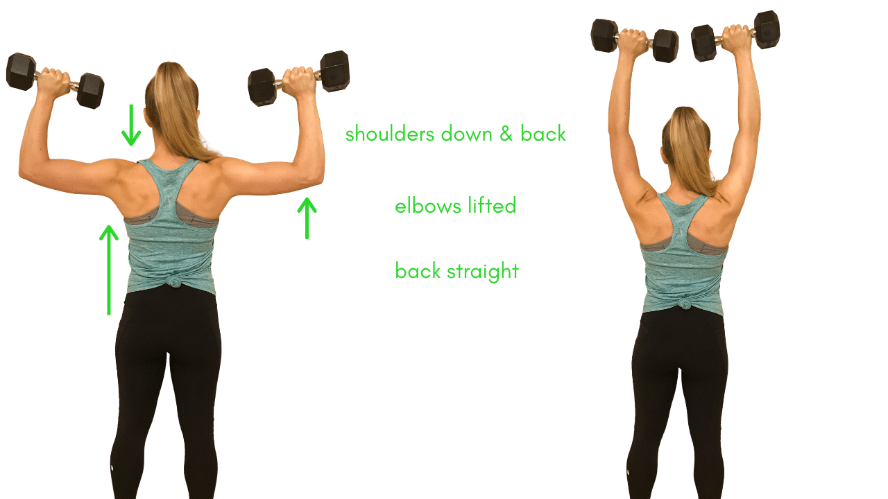 Shoulder Press Exercise with Dumbbells