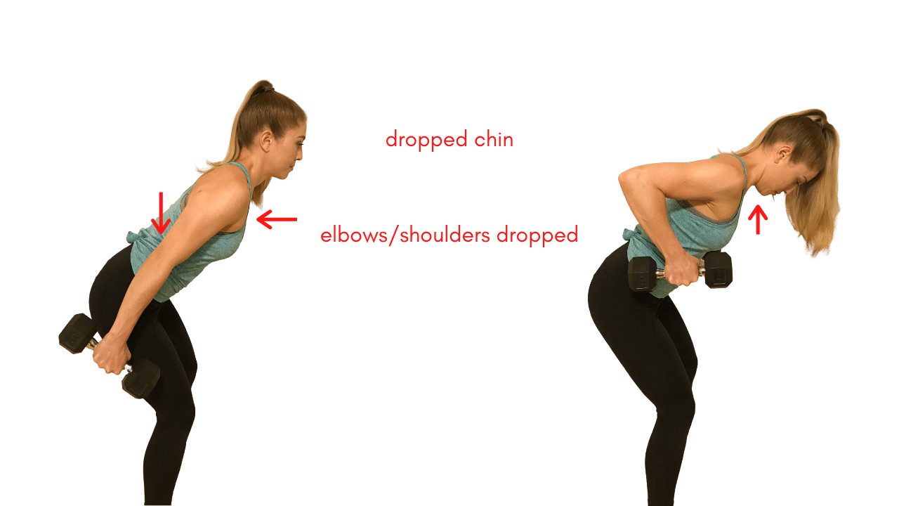 Tricep Extension with Dumbbells- Incorrect Form
