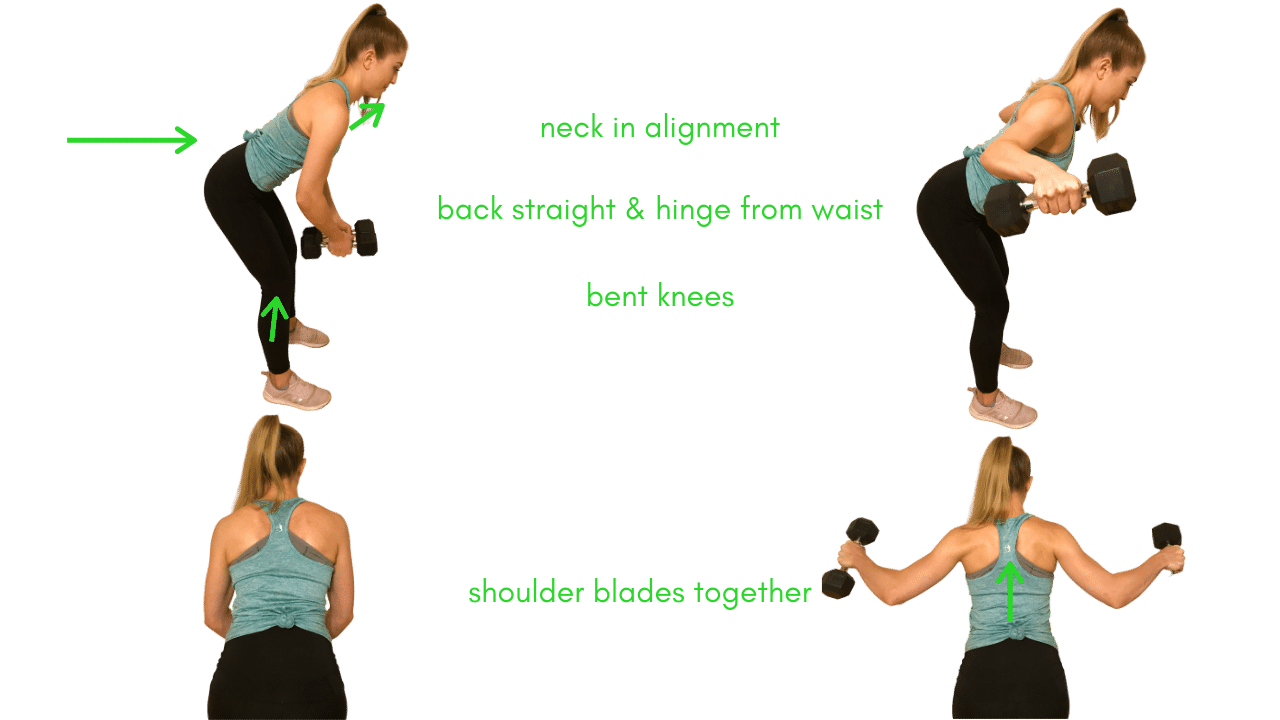 Reverse Fly with Dumbbells