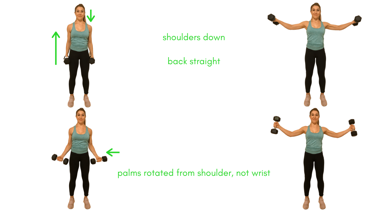 Shoulder Exercise- Lateral Raise with Dumbbells