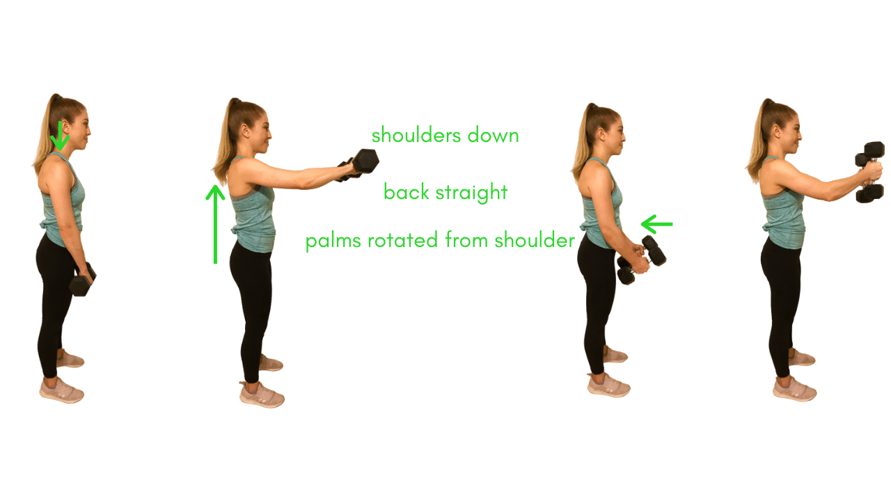 Upper Body Exercise- Front Raise with Dumbbells
