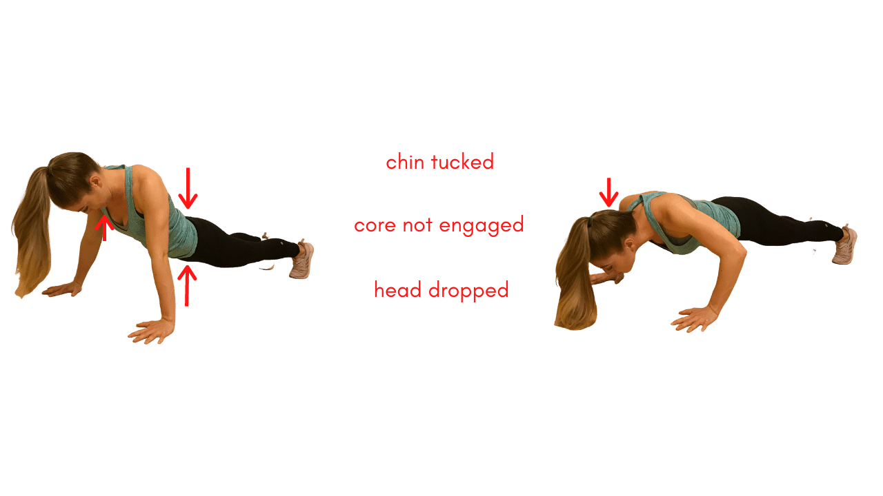 Upper Body Workout- Incorrect Push Up Form