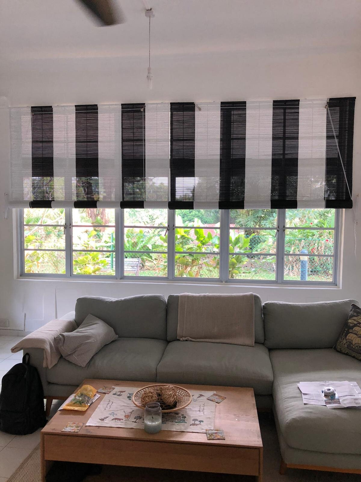 Black White Bamboo Blinds Softhome Curtains Blinds Wallcoverings Window Films