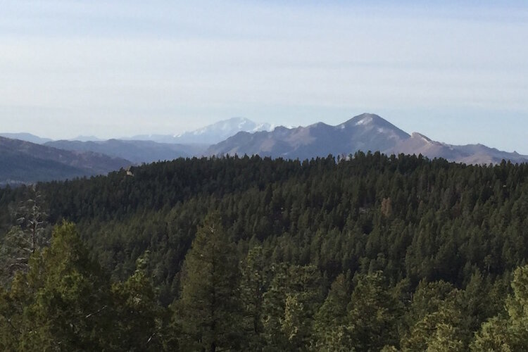 Pikes Peak from Deckers area of Colorado