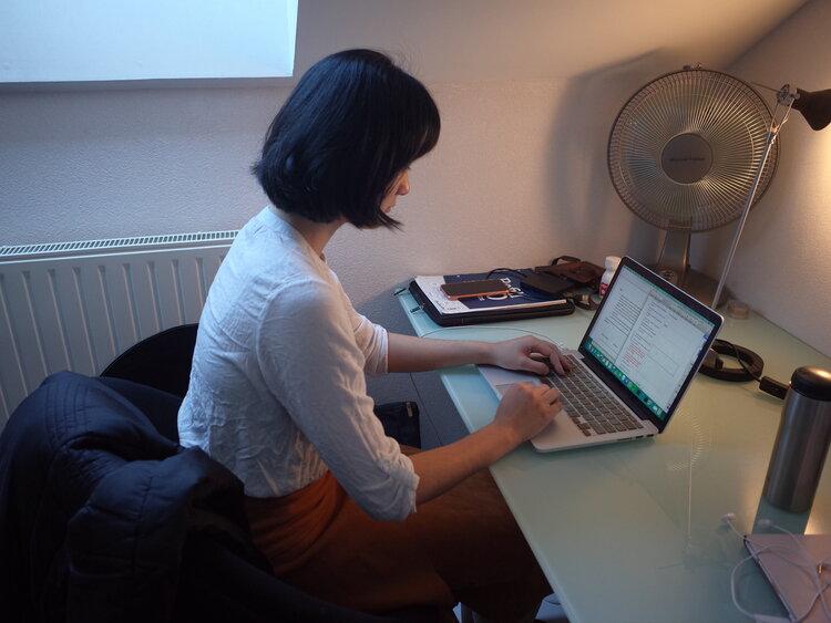 Kiva working from home during Covid-19 pandemic. (Copyright: Kiva Sun)