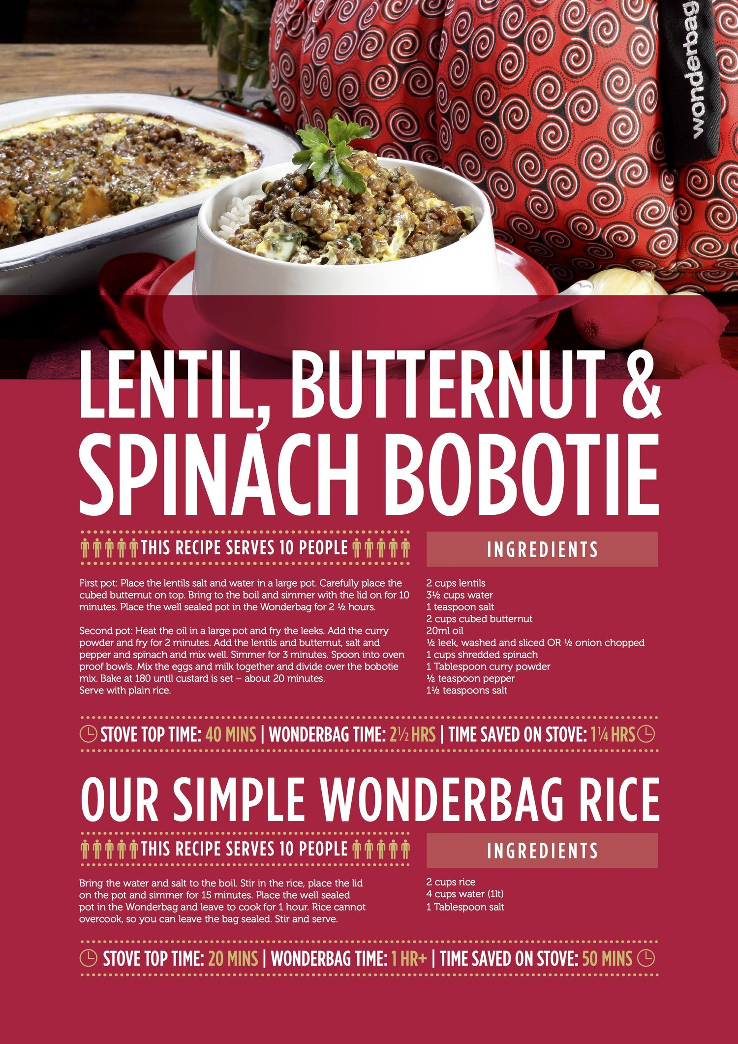 Lentil Butternut Spinach Bobotie Wonderbagworld Com