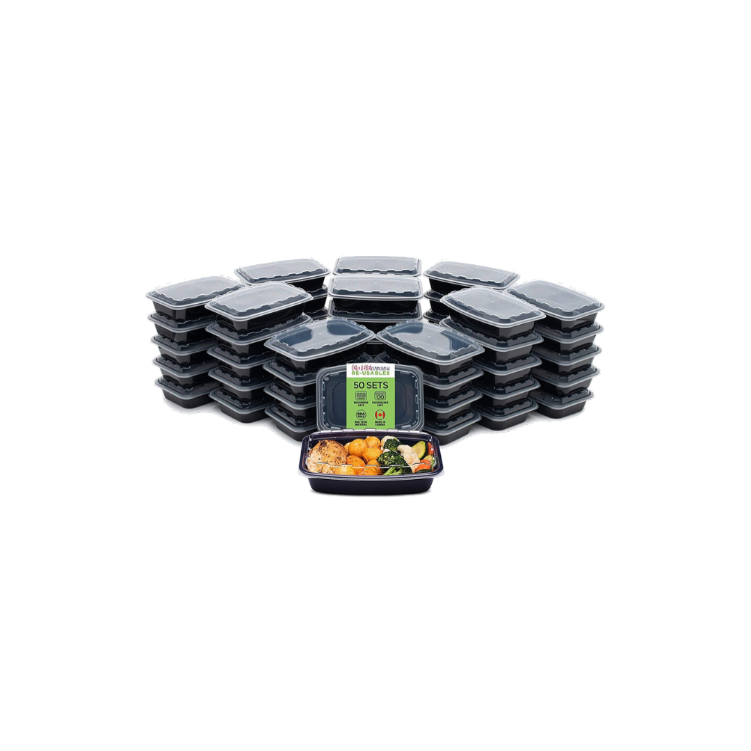 Cubeware 50-Pack Meal Prep Containers