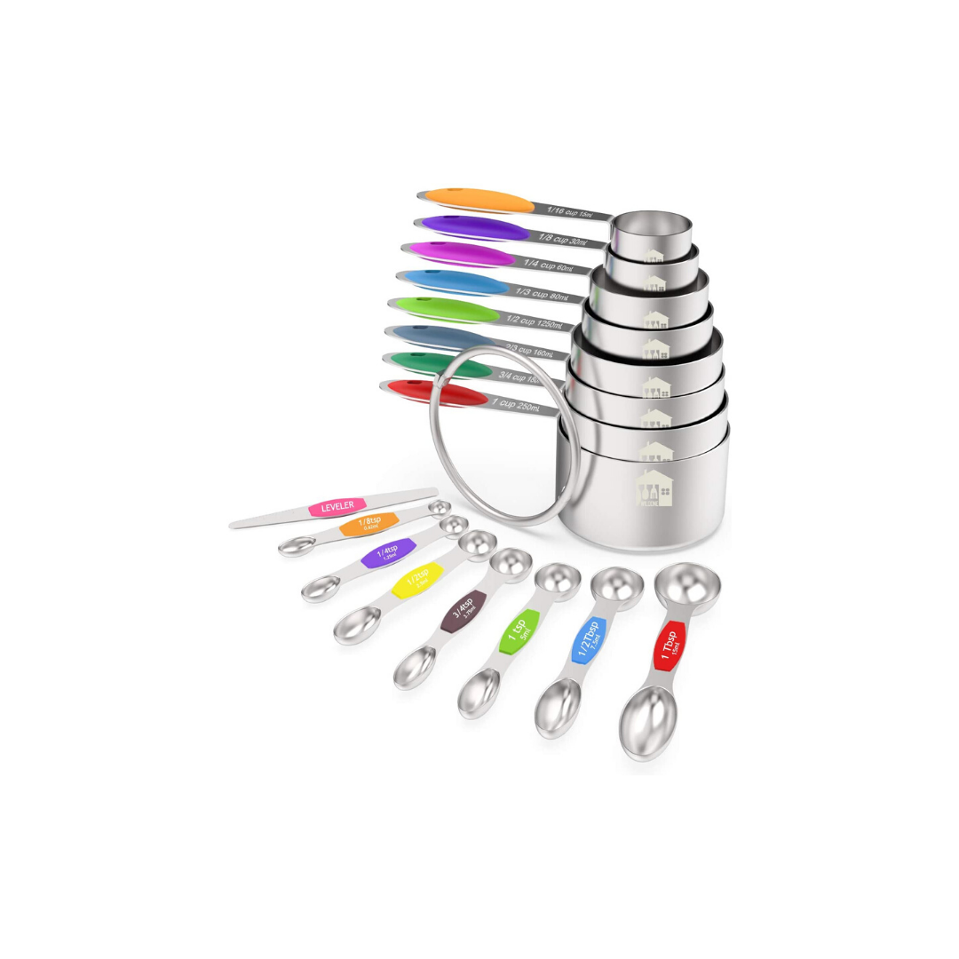 Measuring Cups and Magnetic Measuring Spoons Set