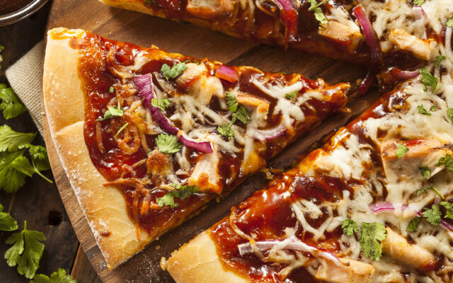 Healthy BBQ Chicken Pizza