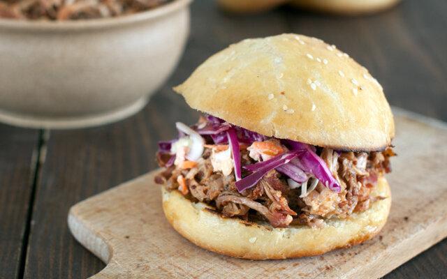 Low Fat Pulled Pork Sandwich