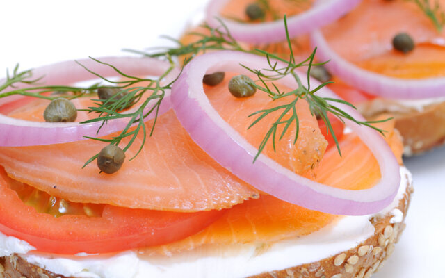 Lox and Whole Wheat Bagel