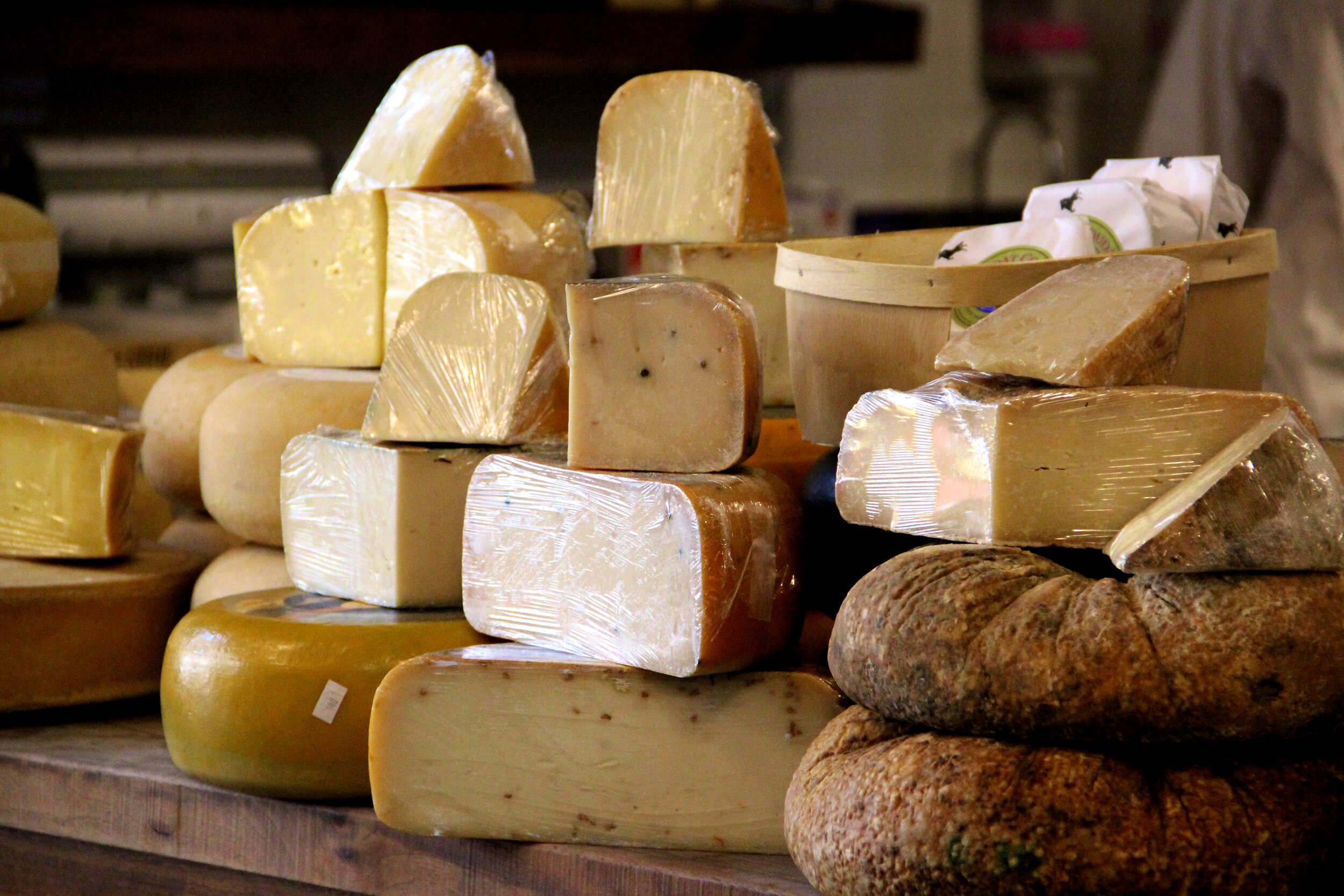 Assortment of French Cheeses