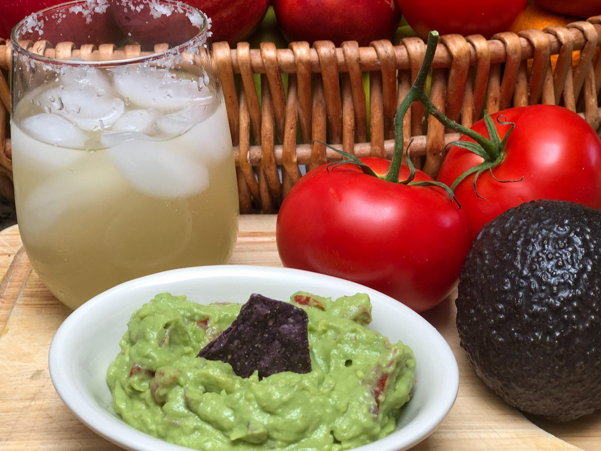 Super Simple Guacamole + Margarita