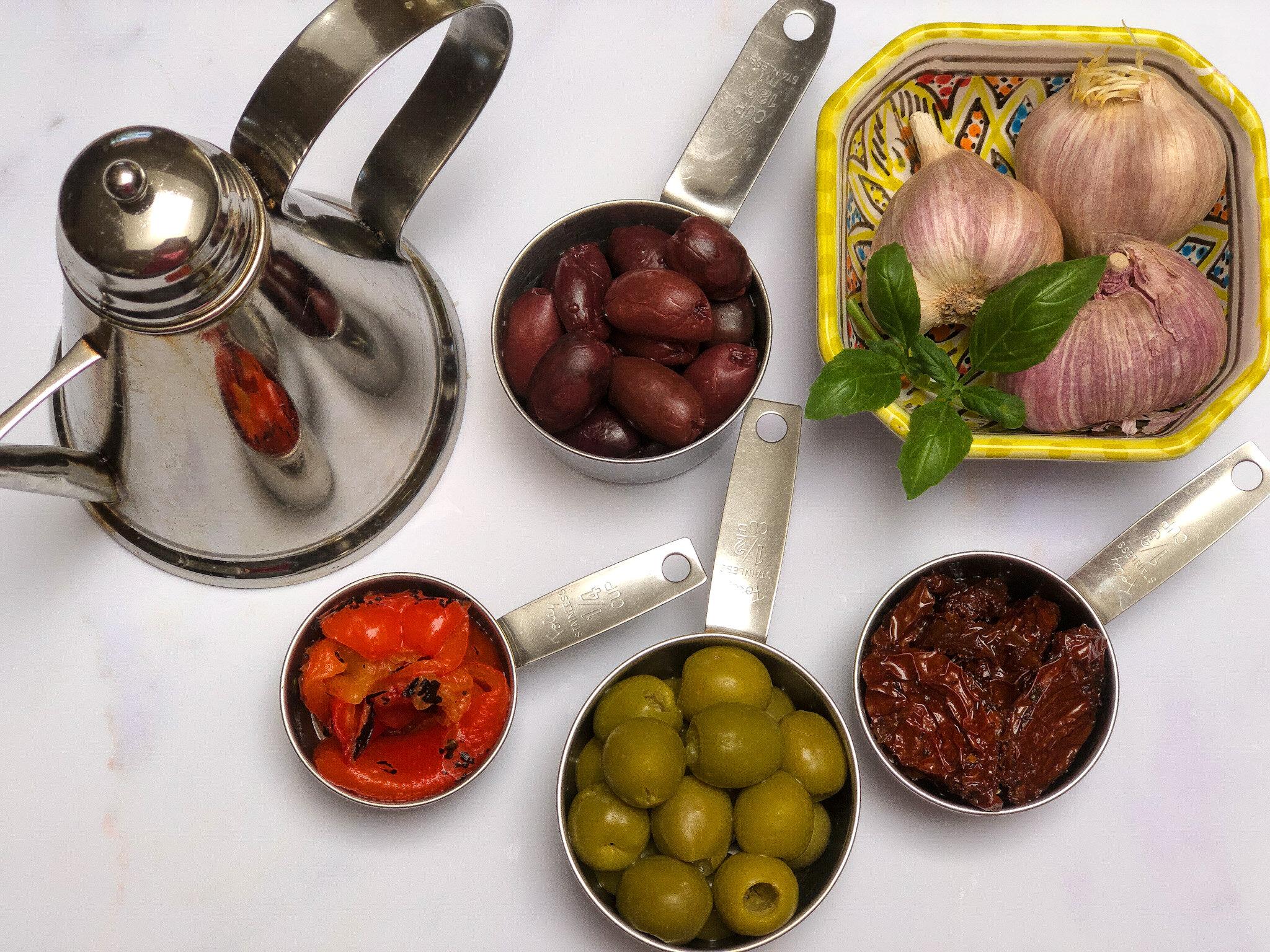 Vegan Olive Tapenade Ingredients