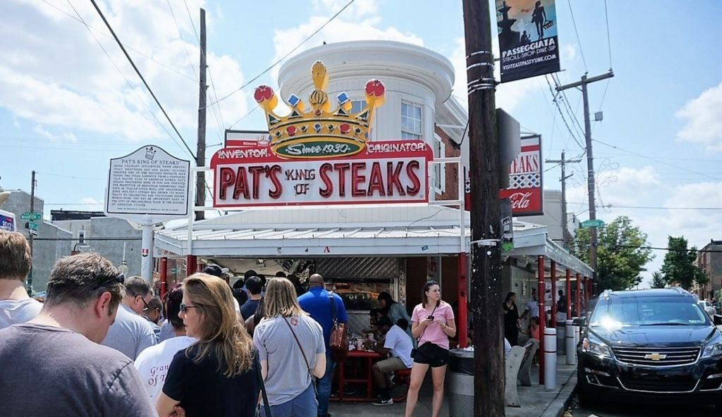 Pat's King of Steaks in Philadelphia. Images courtesy of Anisa from Two Traveling Texans