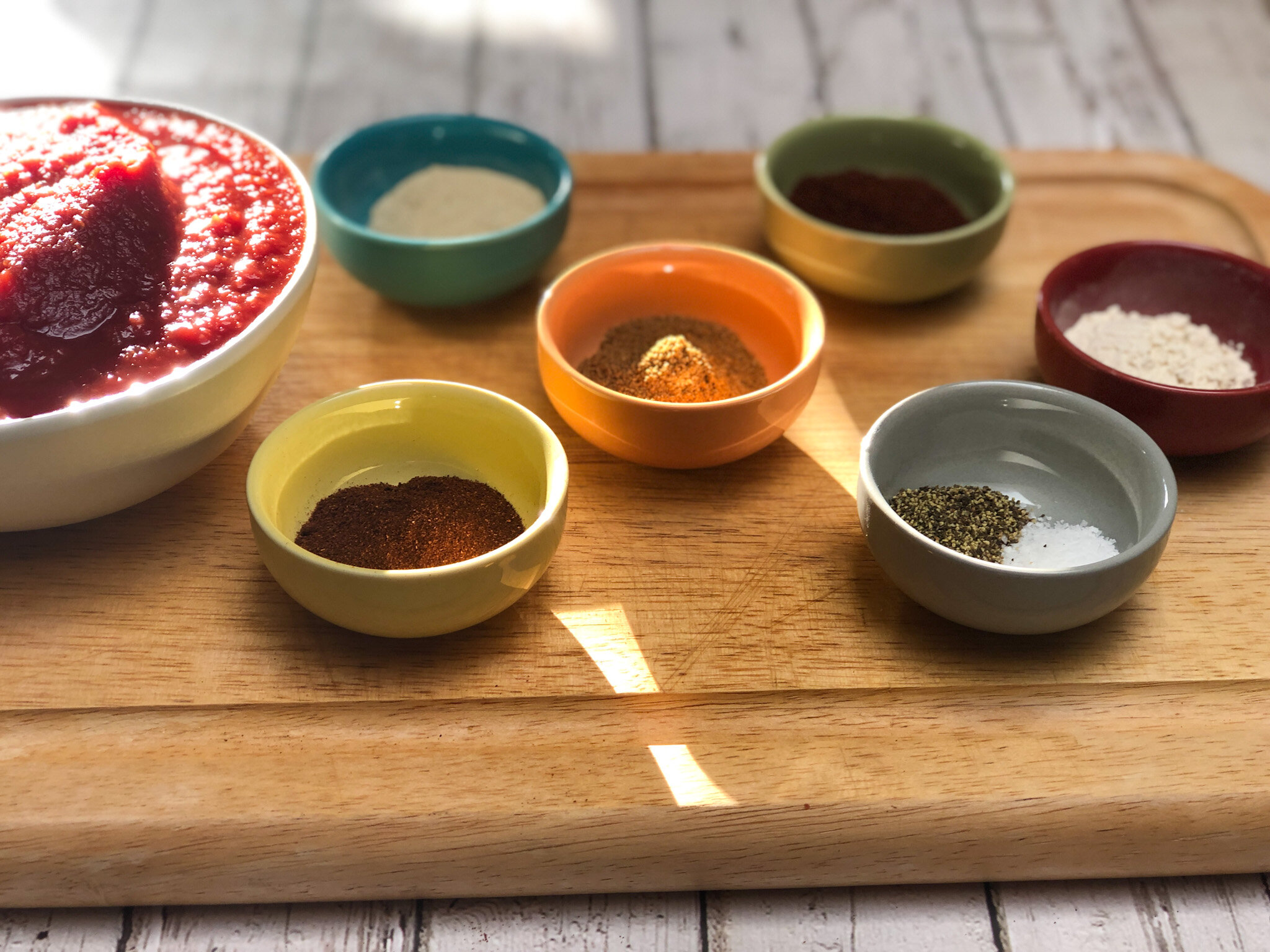 Stoneware pinch bowls, some of the Best Gifts for Foodies.