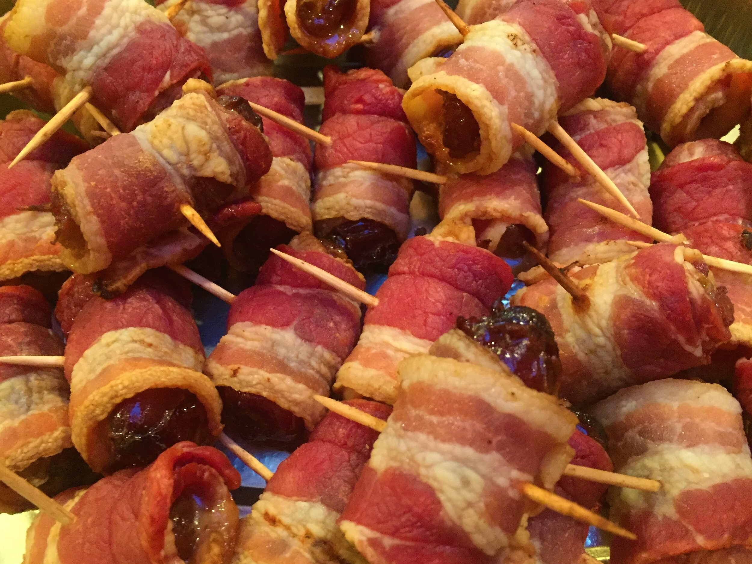Super easy appetizers-Bacon-Wrapped Dates.