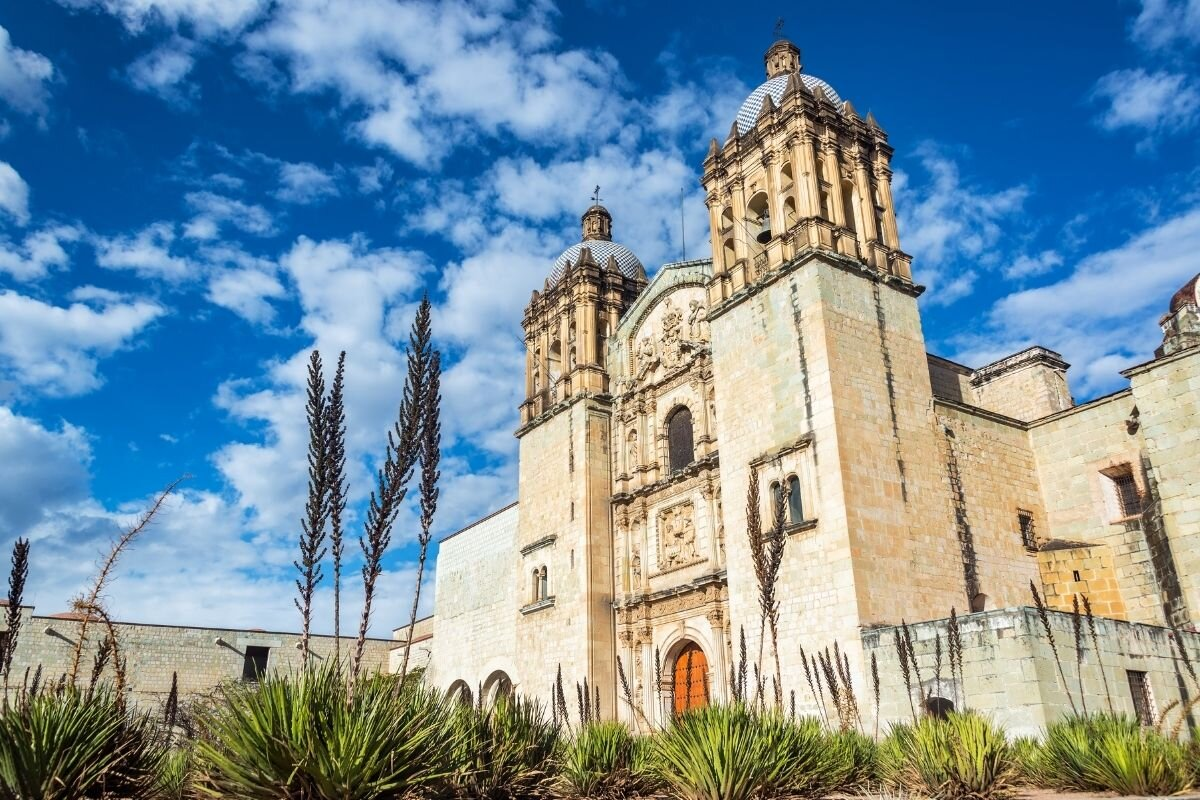 Downtown Oaxaca City known for its delicious street food.