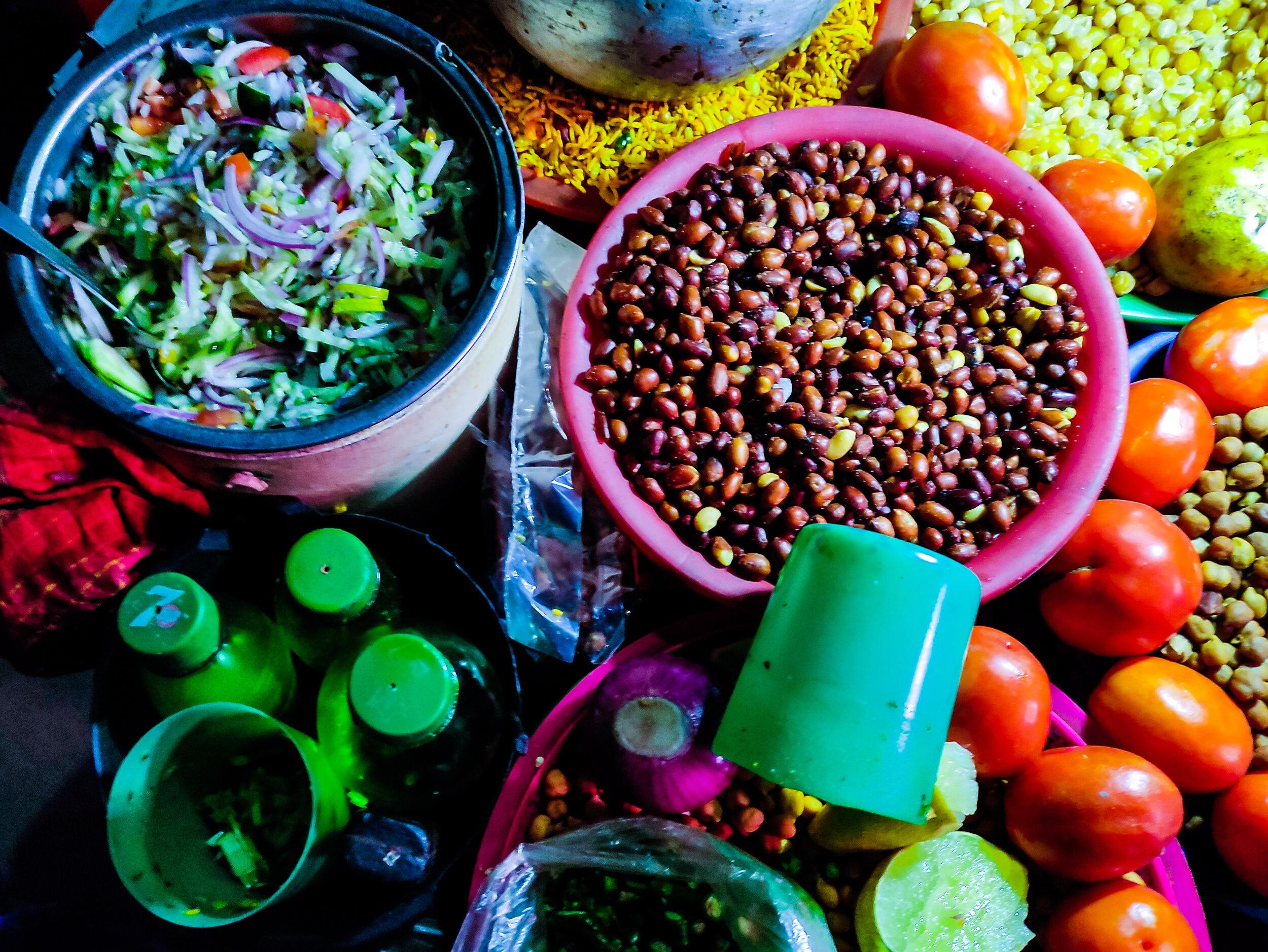 Jhalmuri, a favorite Dhaka street food.