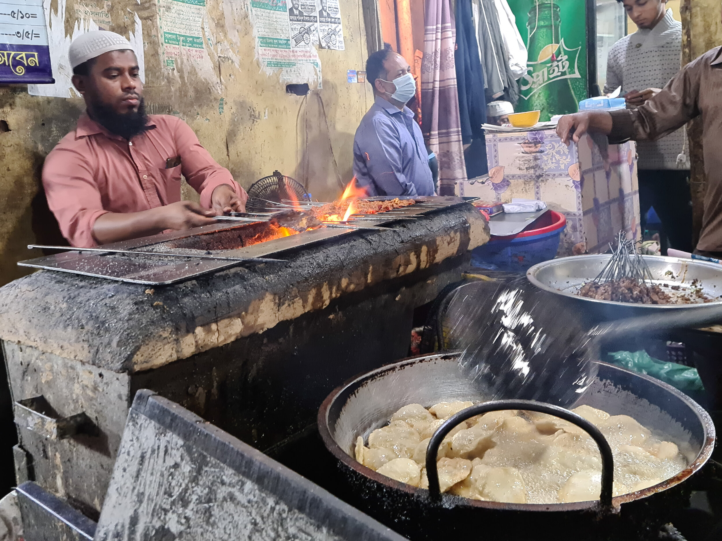 Sheekh Kebab with Luchi is a typical Bangladeshi meal.