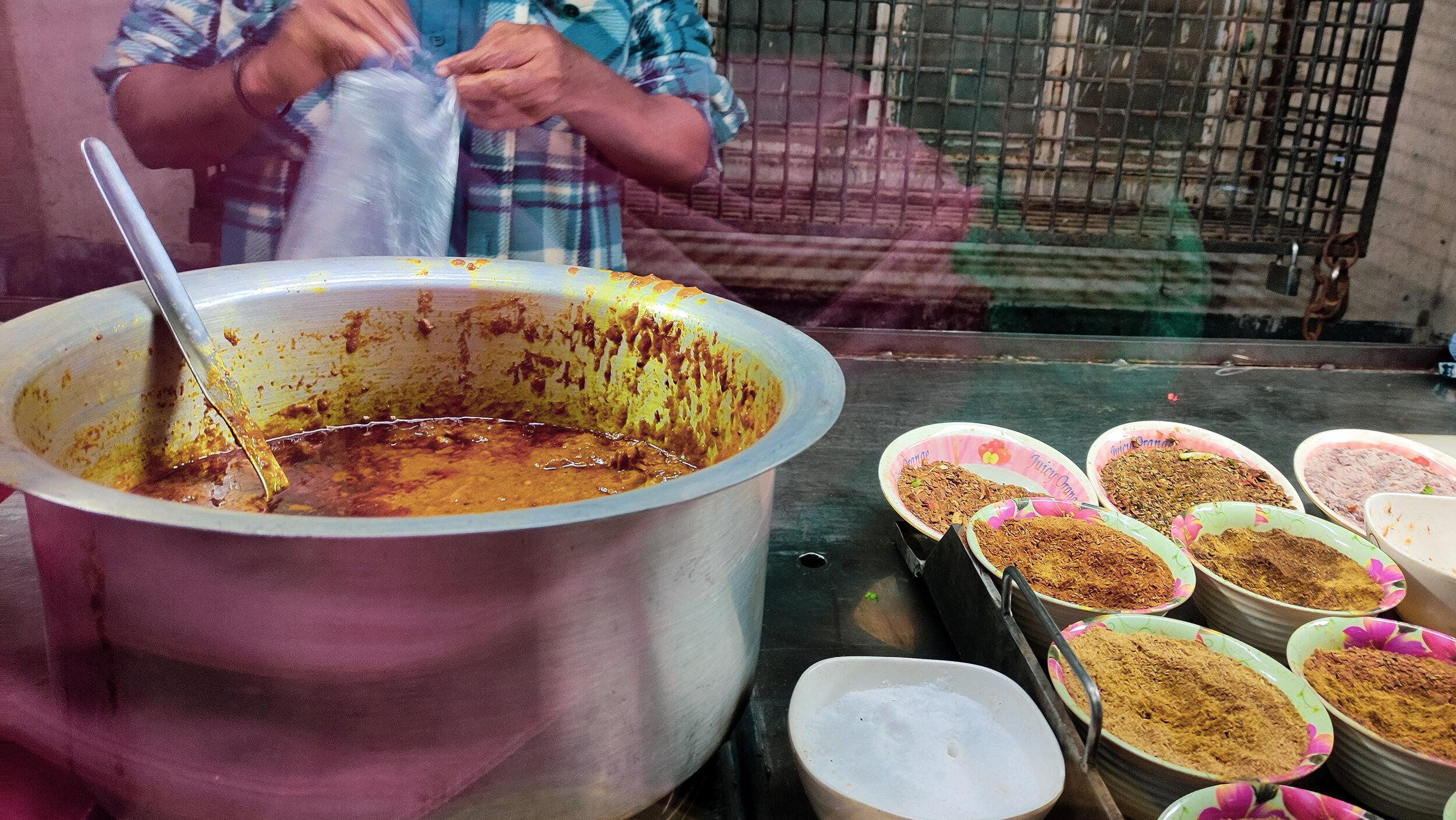 Halim is a staple Bangladeshi food similar to lentil soup.