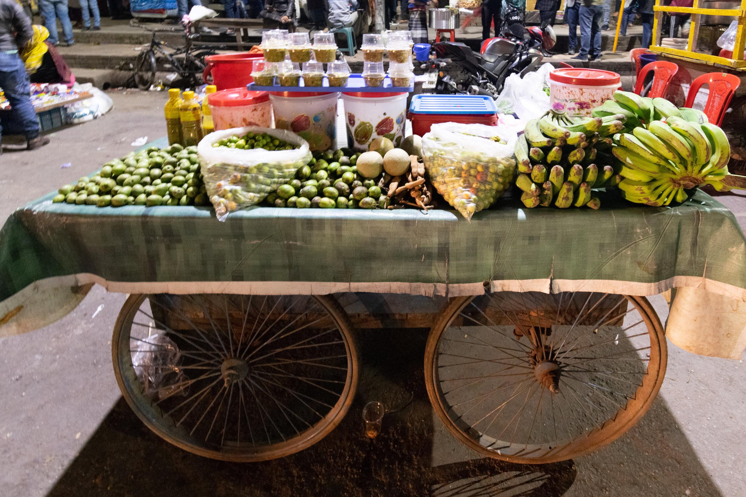 Street food in Dhaka.