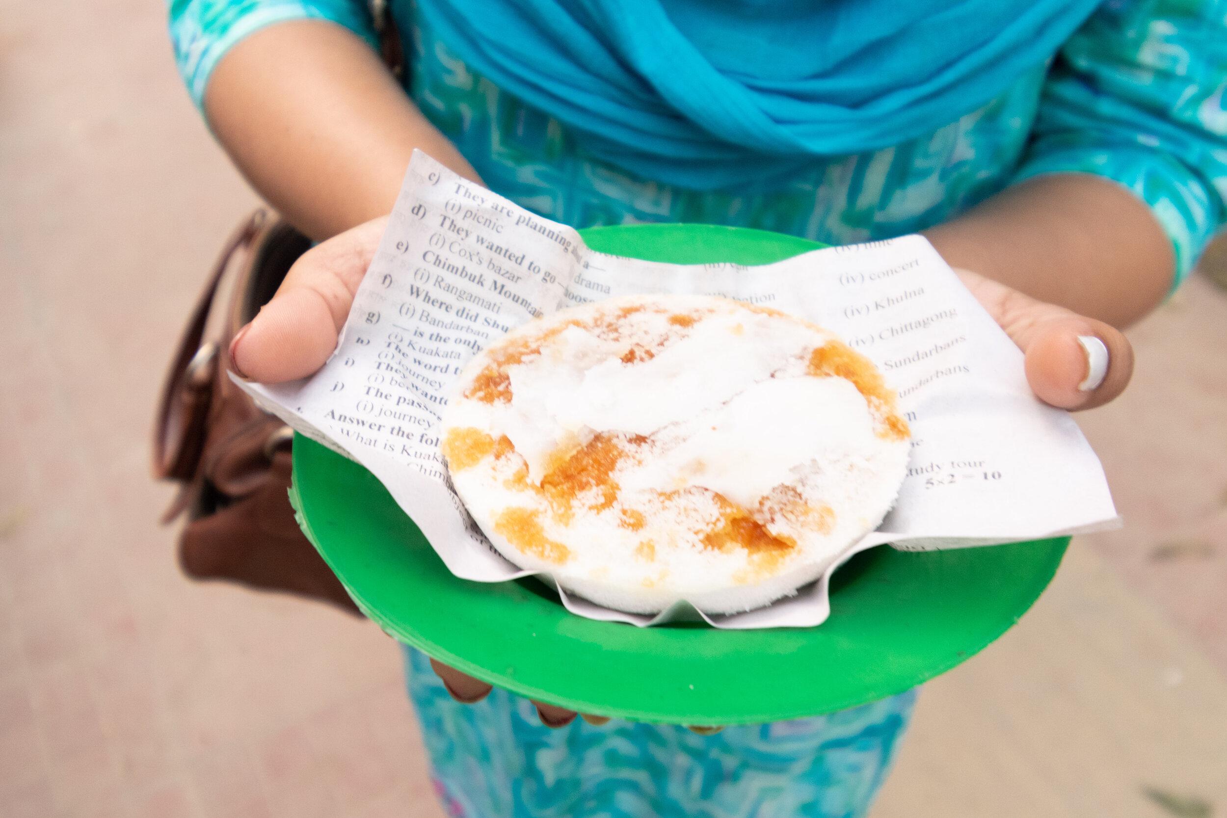 The sweet Bangladeshi snack, Pitha.